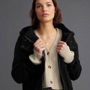 Anthropologie Gillian Sherpa Hoodie Jacket XS NWT